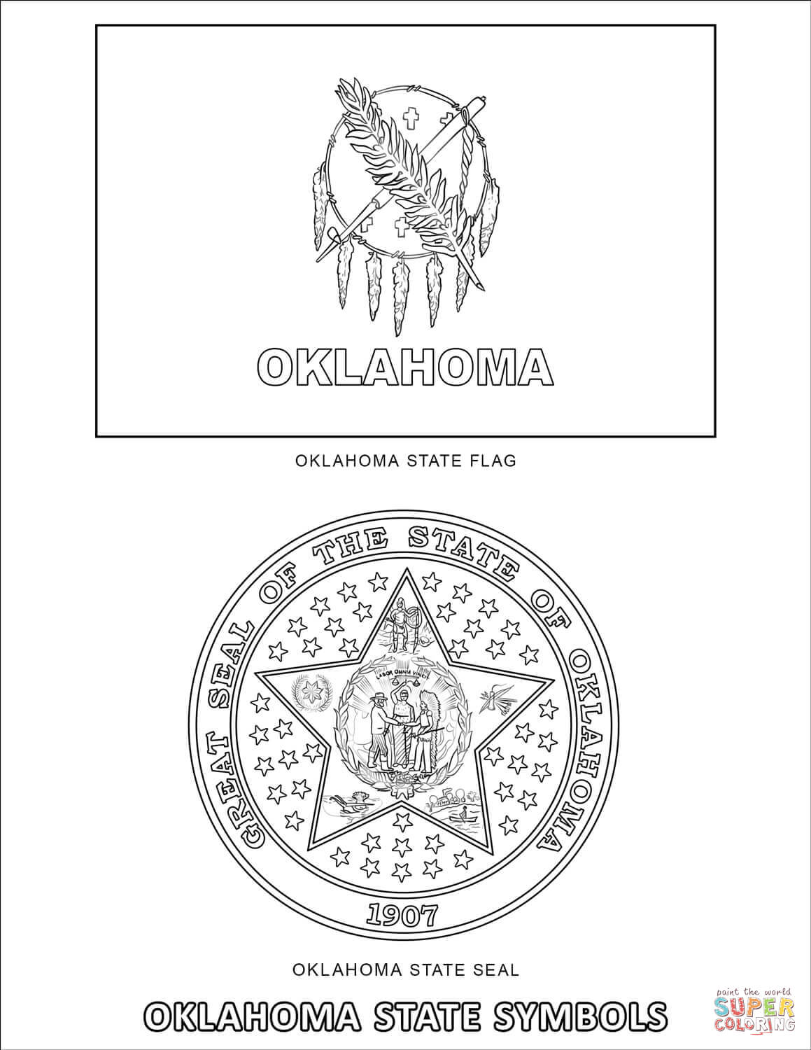 Oklahoma Coloring Pages Coloring Pages