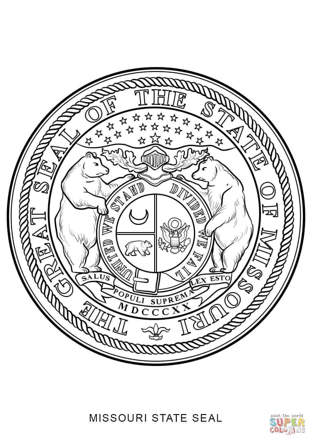 New Mexico State Seal Coloring Page Coloring Pages