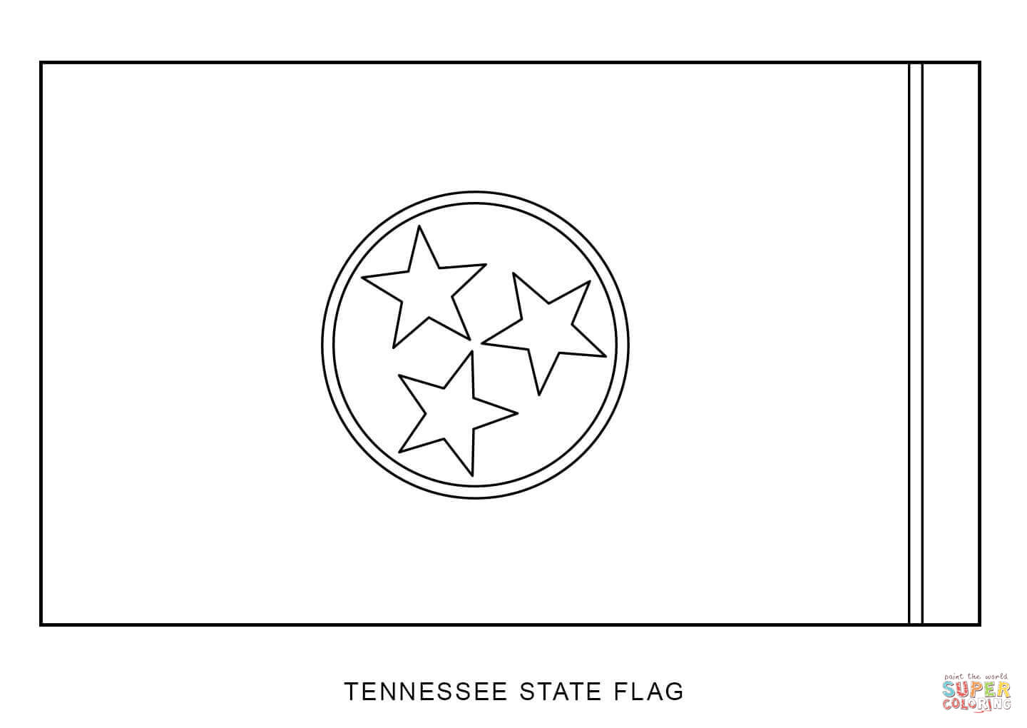 Tennessee State Flag Coloring Page