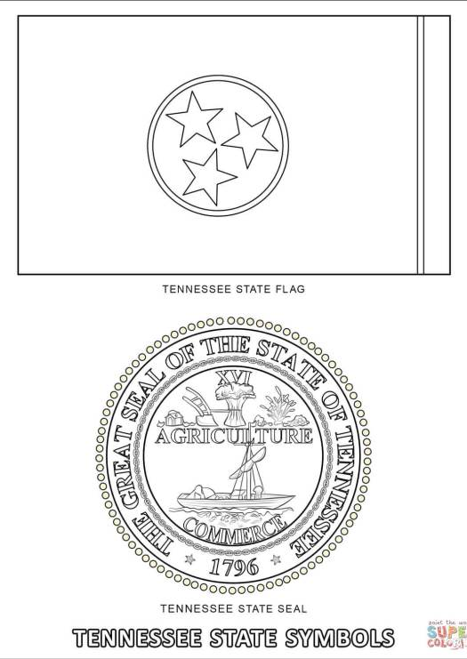 Tennessee State Tree Tulip Poplar Coloring Page