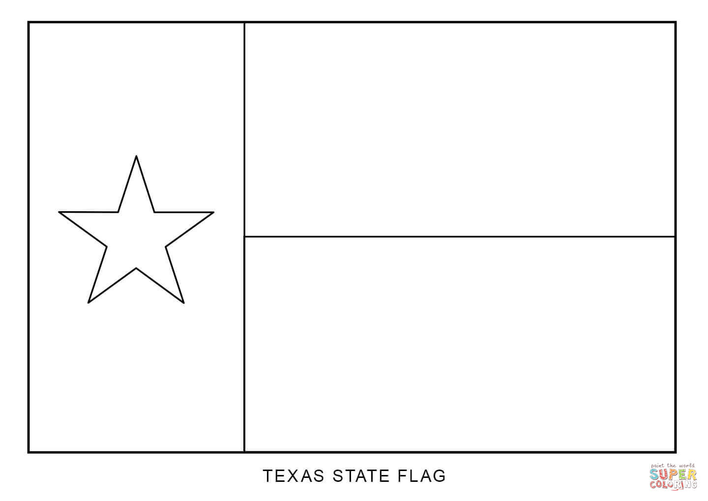 Flag Of Texas Coloring Page