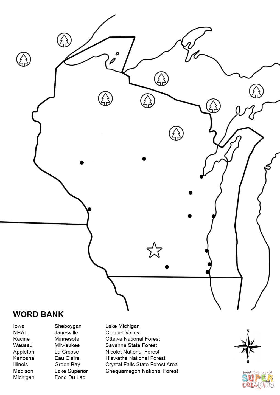 Illinois Map Worksheet