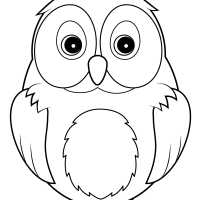 Widescreen Coloring Of Disney Smartphone High Resolution Cute Owl Page