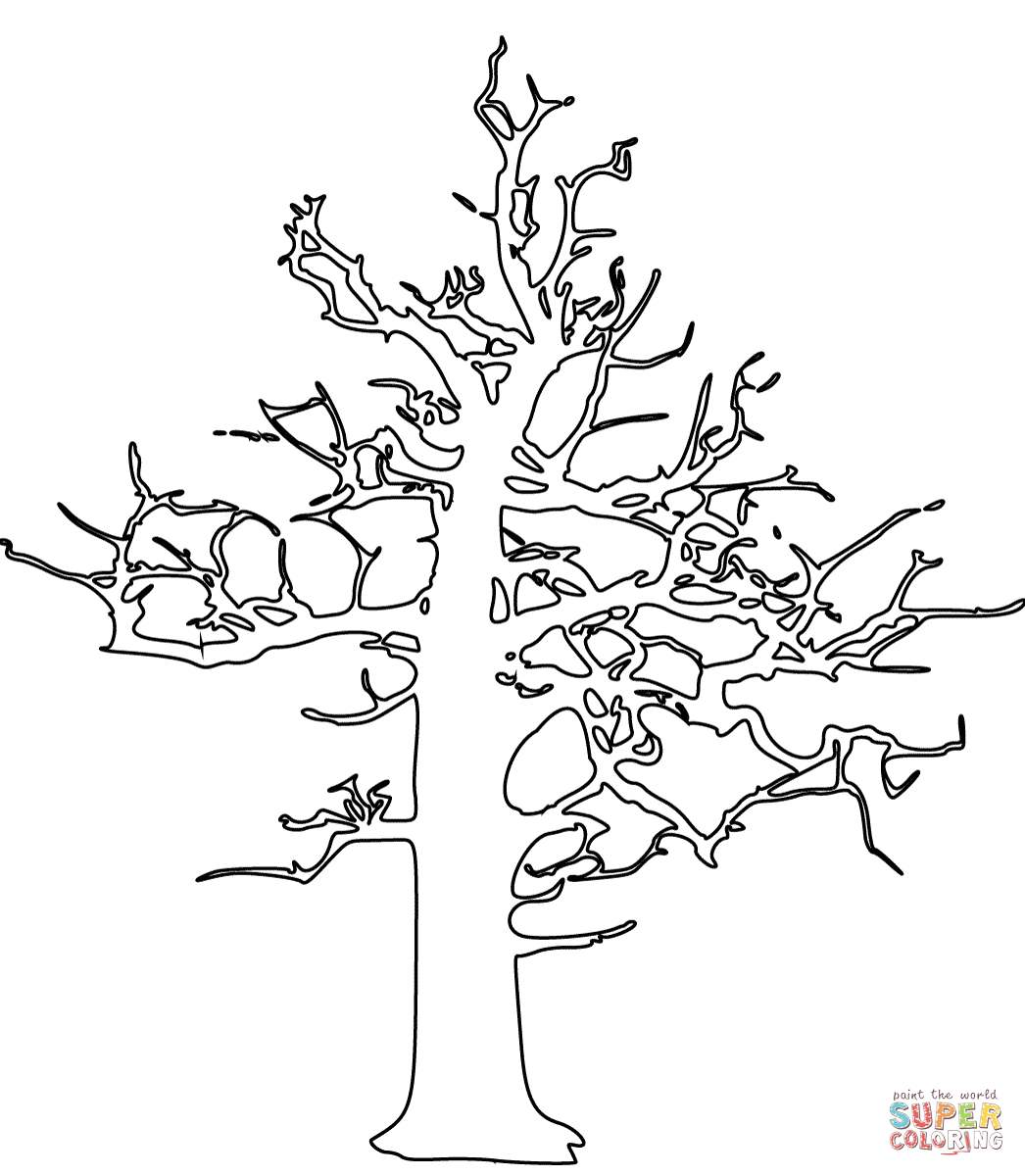 Dead Tree Coloring Page