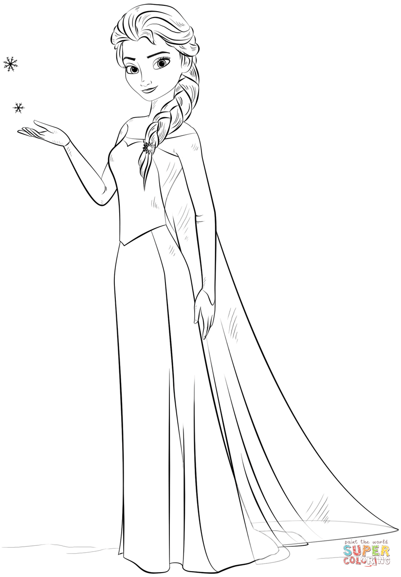 """Search Results for """"Elsa Coloring Pages From Frozen"""