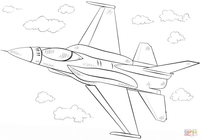 Click The F 16 Fighting Falcon Fighter Coloring Pages To View Printable Version Or Color It Online Compatible With Ipad And Android Tablets