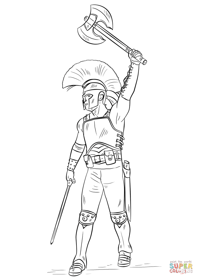 Gladiator Coloring Pages Coloring Coloring Pages