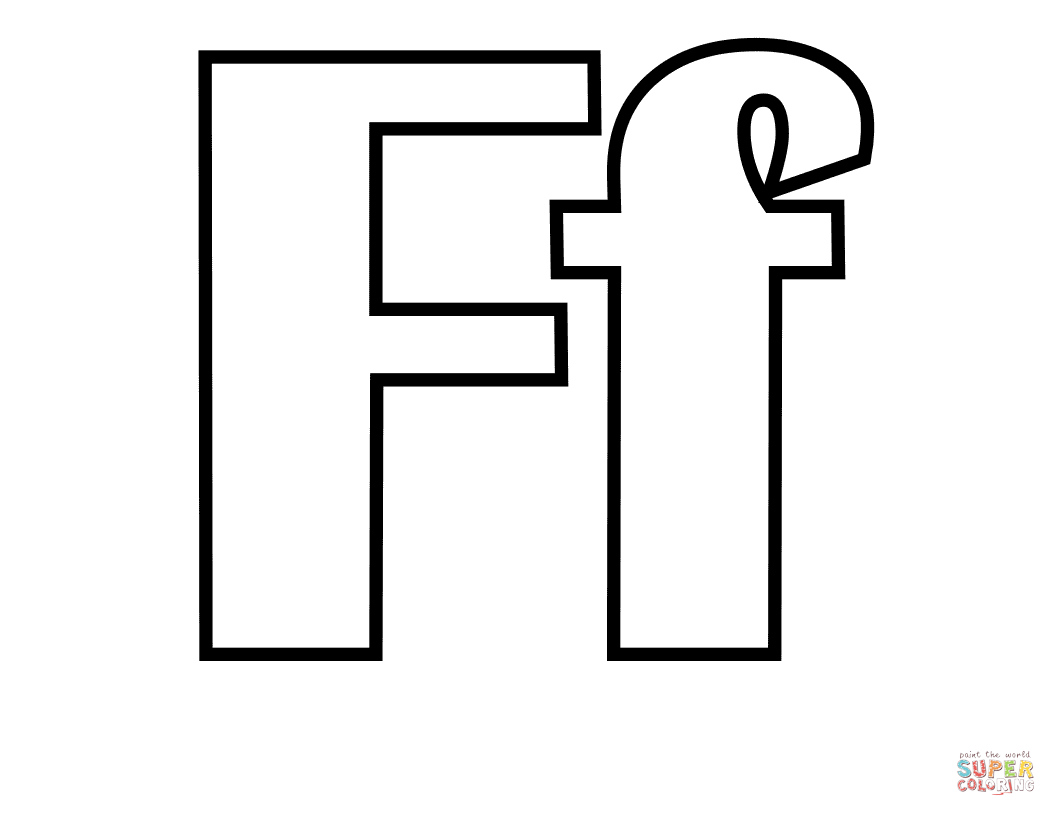 Classic Letter F Coloring Page