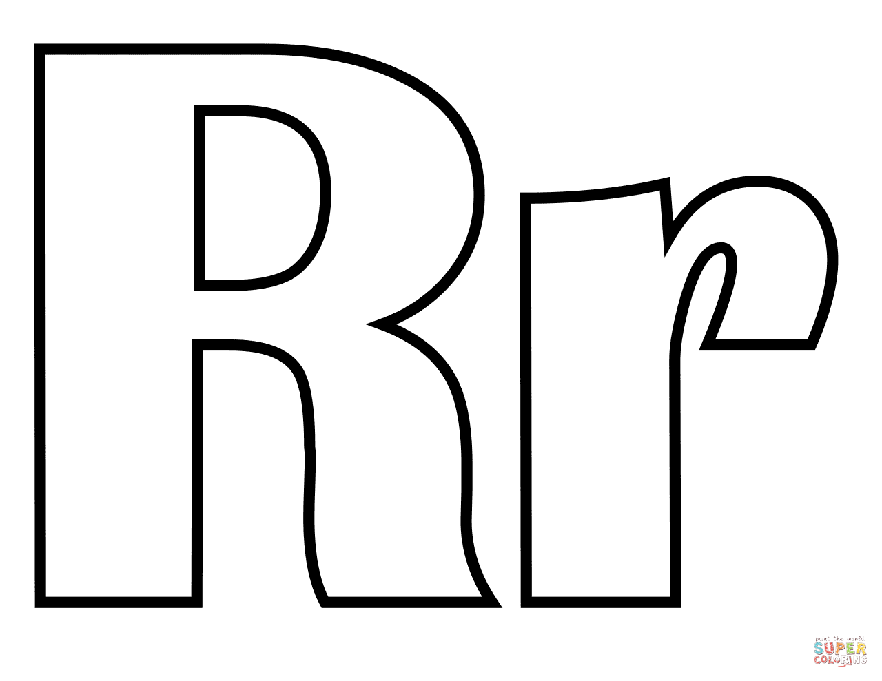Classic Letter R Coloring Page