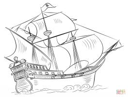 Ausmalbild Piratenschiff   Ausmalbilder kostenlos zum ...