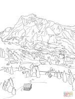 Ausmalbild Schweizer Alpen   Ausmalbilder kostenlos zum ...