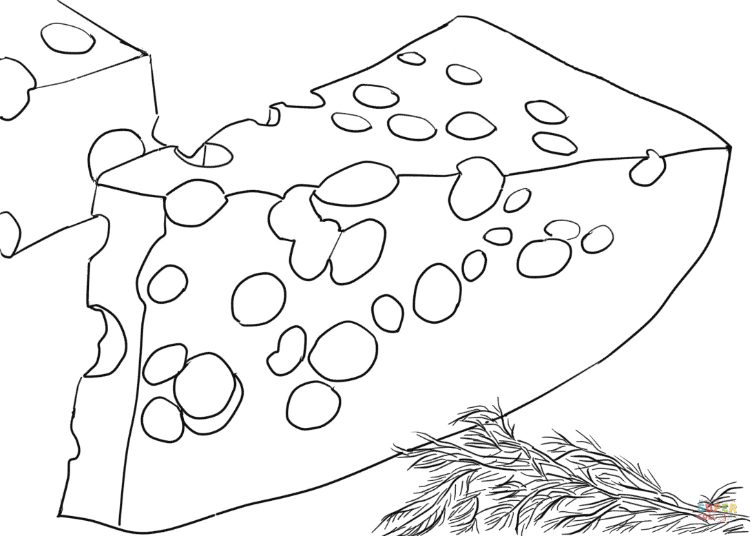 Cheese Coloring Book Coloring Pages