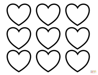 Valentines Day Blank Hearts coloring page | Free Printable ...