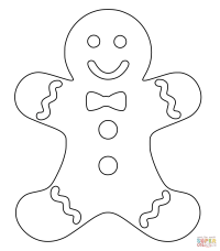 Christmas Gingerbread Man coloring page | Free Printable ...