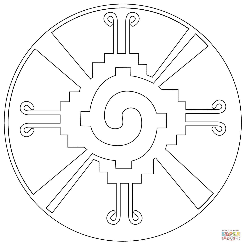 Desenho De Hunab Ku Para Colorir