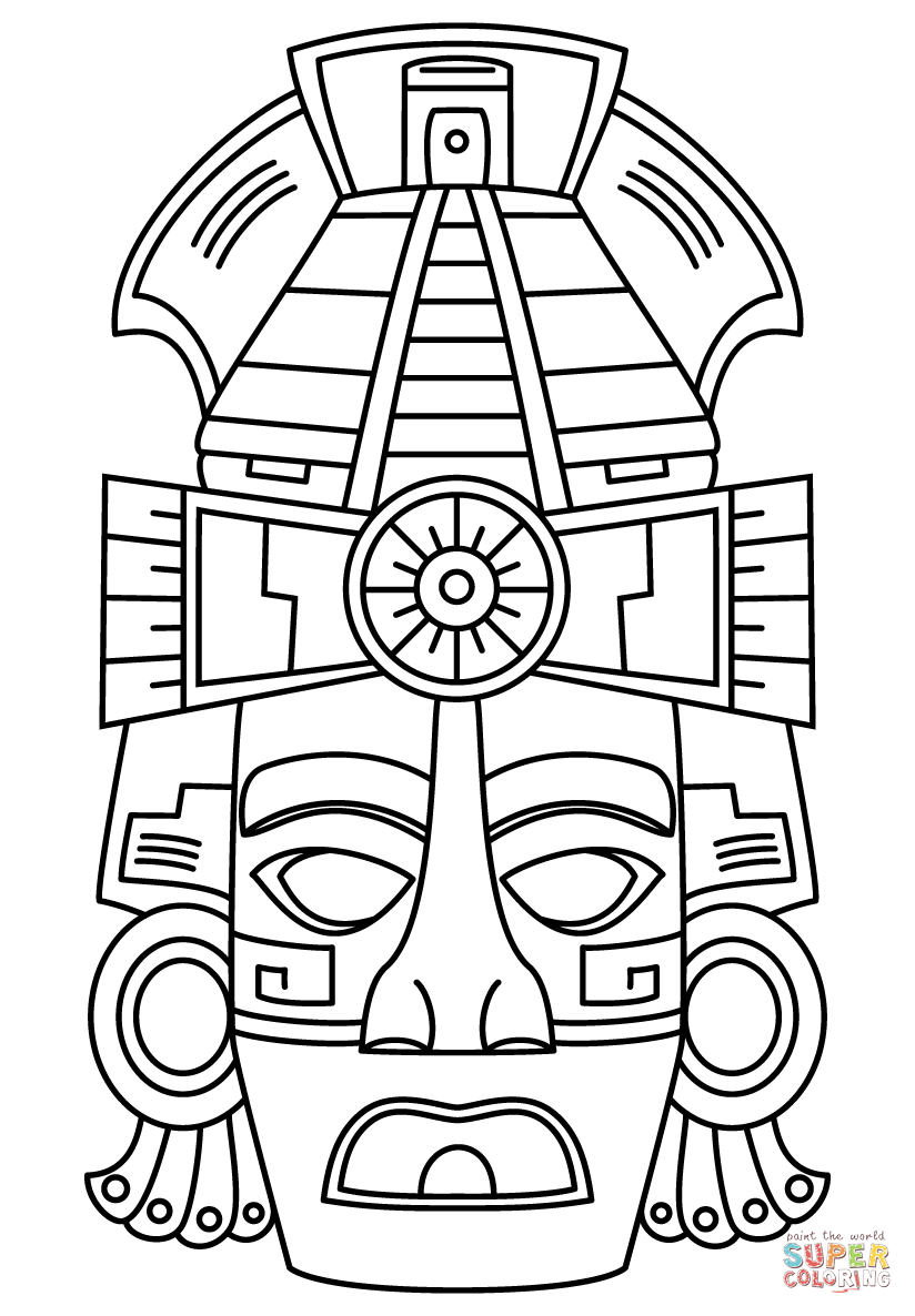 Mayan Ruins Coloring Page Coloring Pages
