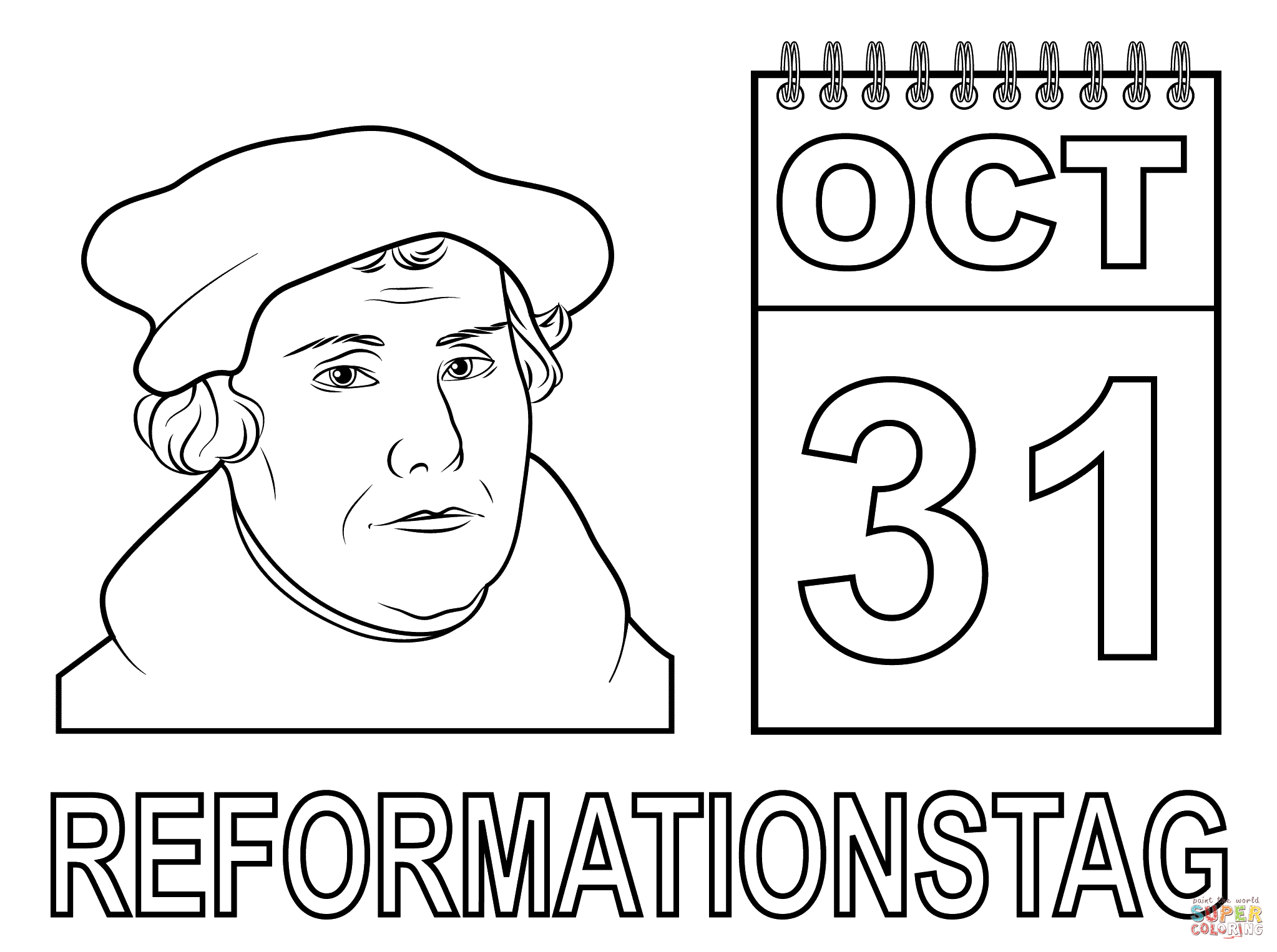 Reformation Day Coloring Page