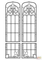 Ausmalbild Kirchenfenster Glasmalerei   Ausmalbilder ...