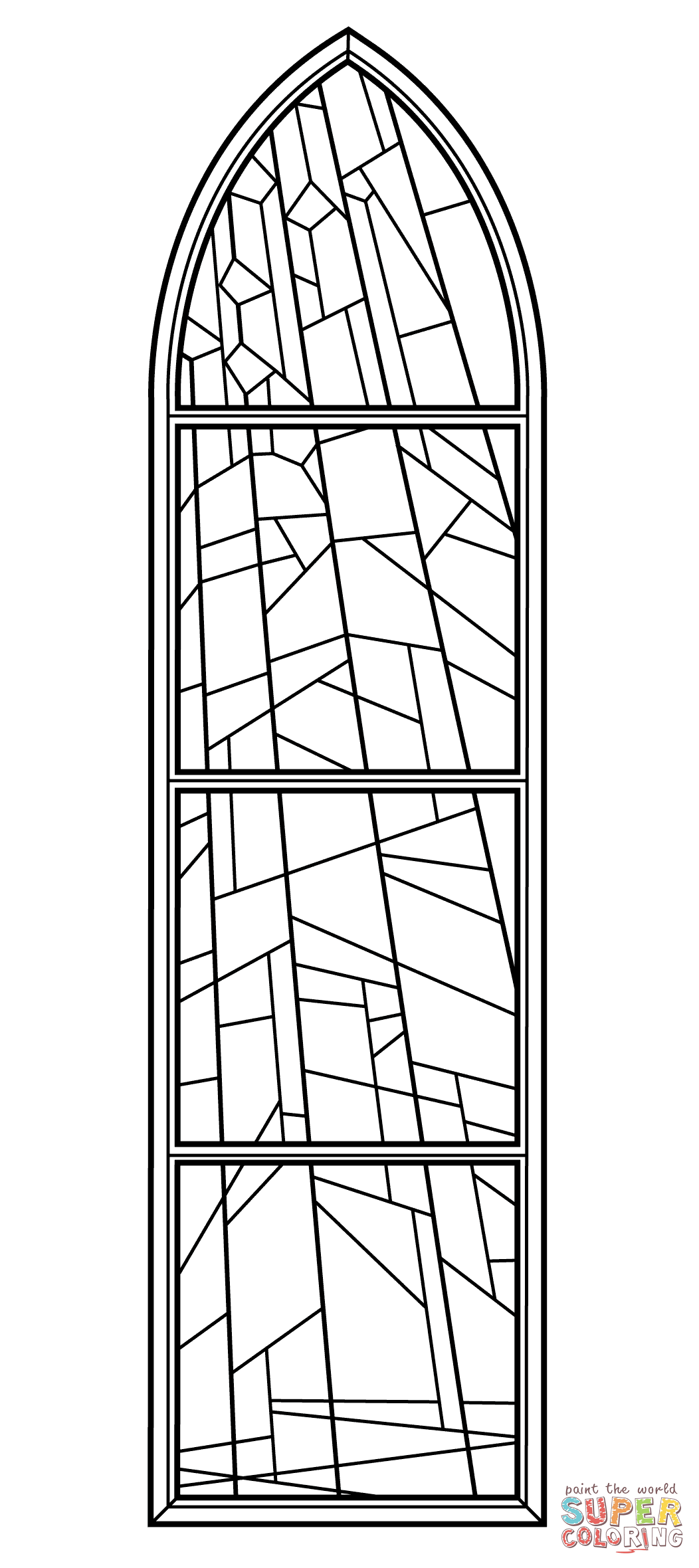 Stained Glass Window from Anglican Church coloring page