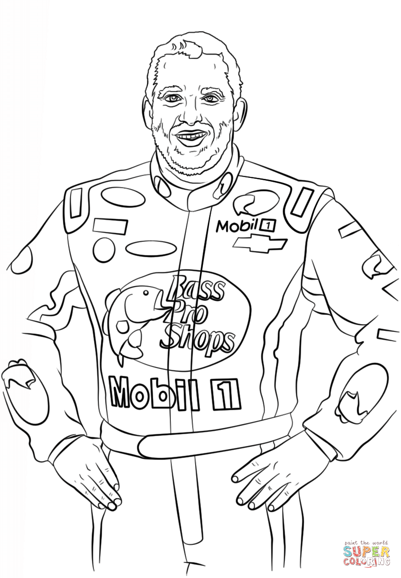 Nascar Logo Pages Coloring Pages