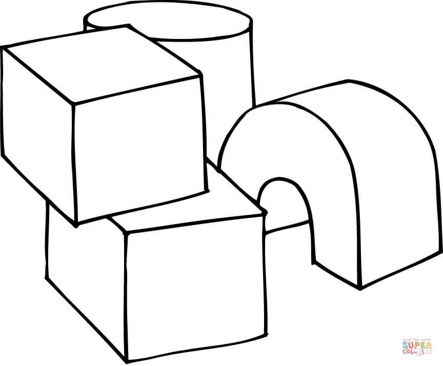 Free Rubik Cube Coloring Pages Sketch Coloring Page