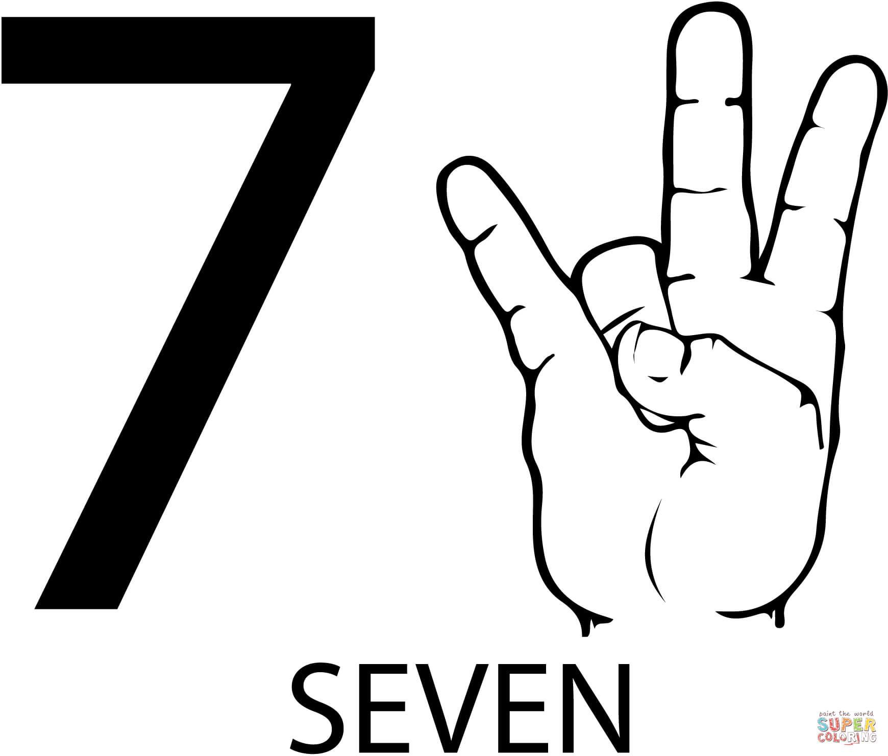 Number 7 Seven Worksheet