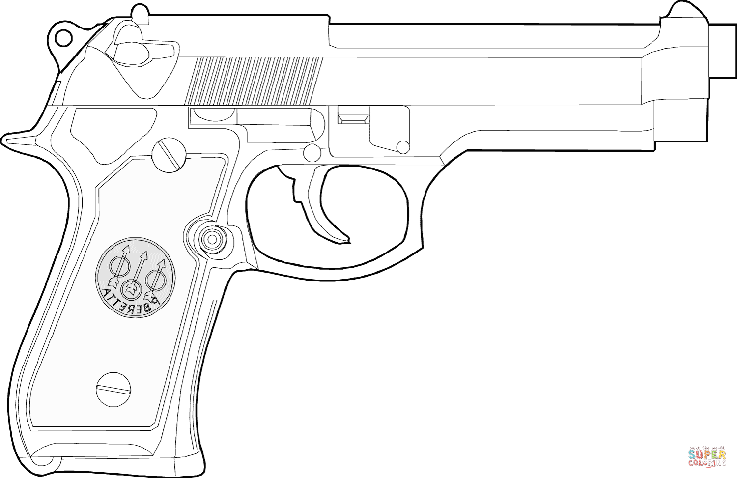 Python Gun Coloring Pages
