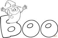 """Coloriage - Un fantme dit """"Boo""""   Coloriages  imprimer ..."""