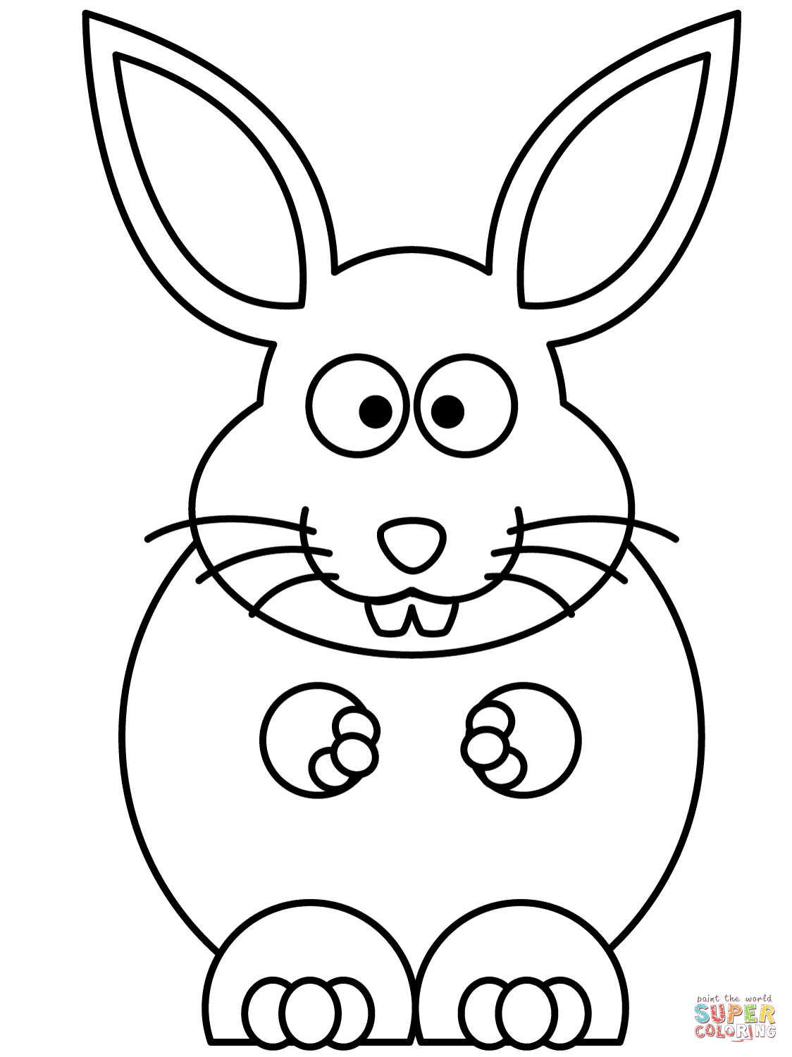 Cute Bunny Coloring Page Free Printable Coloring Pages