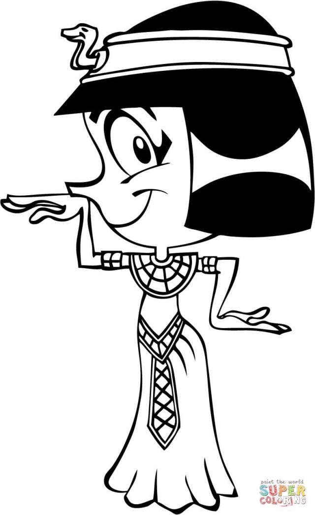 Cleopatra Caricature coloring page  Free Printable Coloring Pages