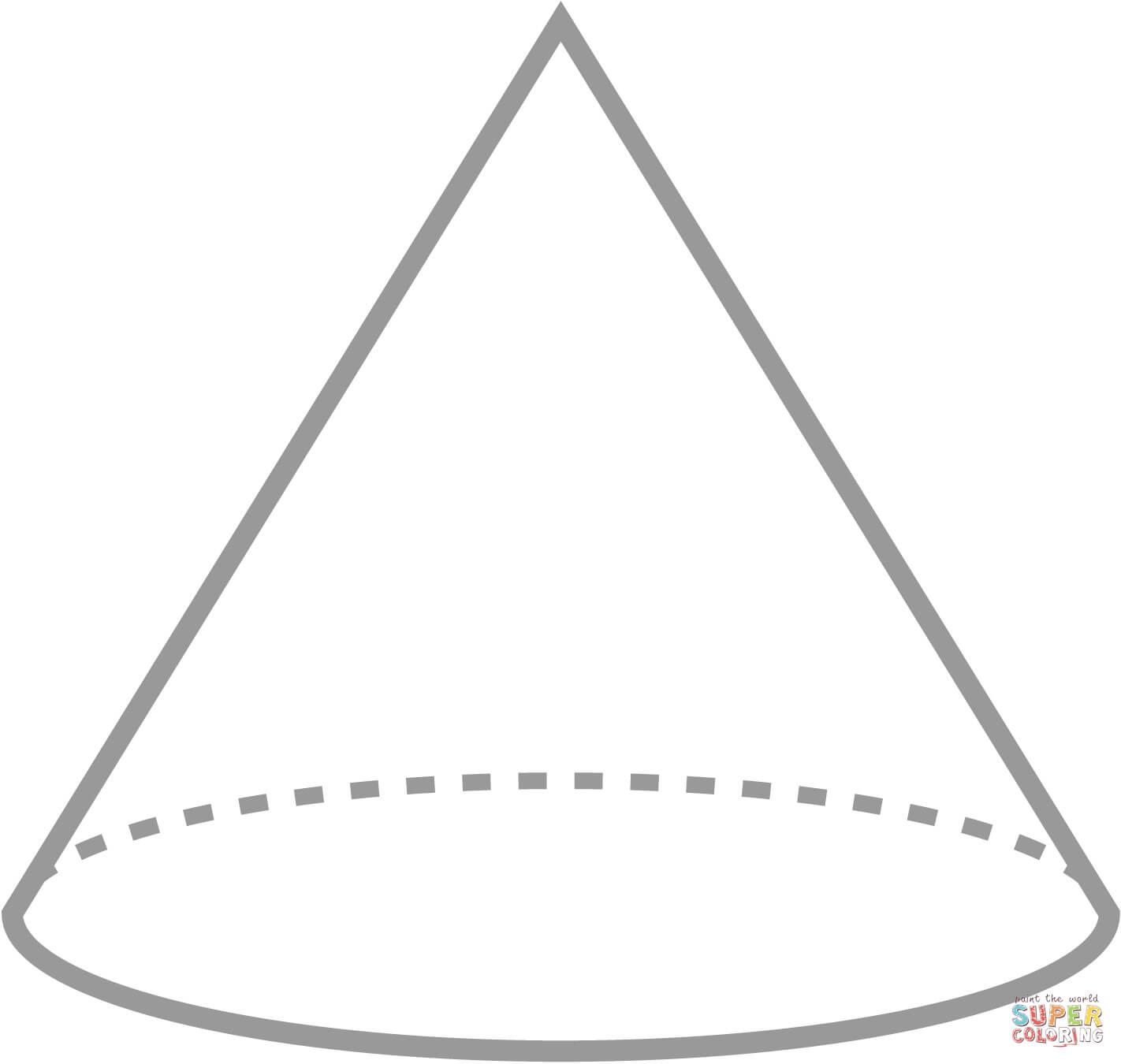Cone Coloring Page