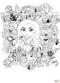 Gorgeous! Doodle by Kent Sunglao coloring page | Free ...