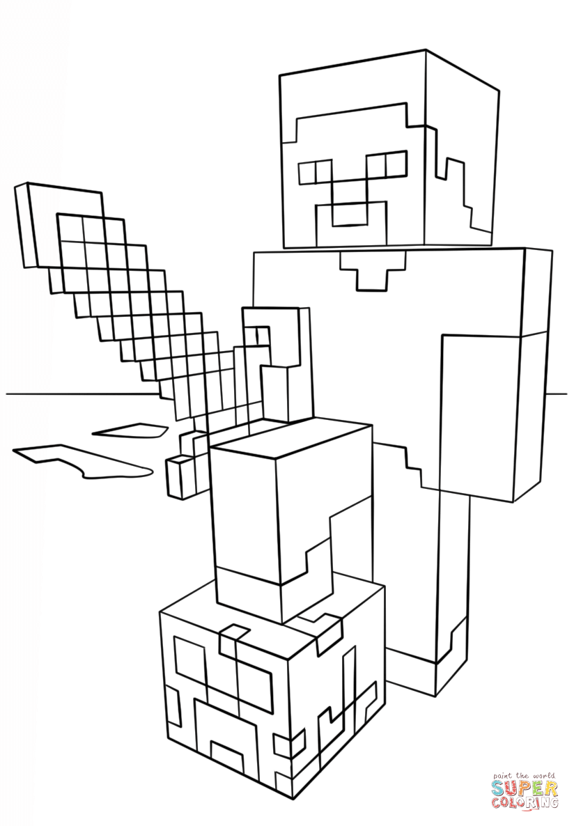 Minecraft Sword Pages Coloring Pages