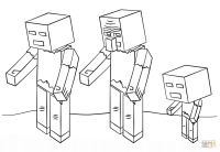 Minecraft Zombies coloring page | Free Printable Coloring ...
