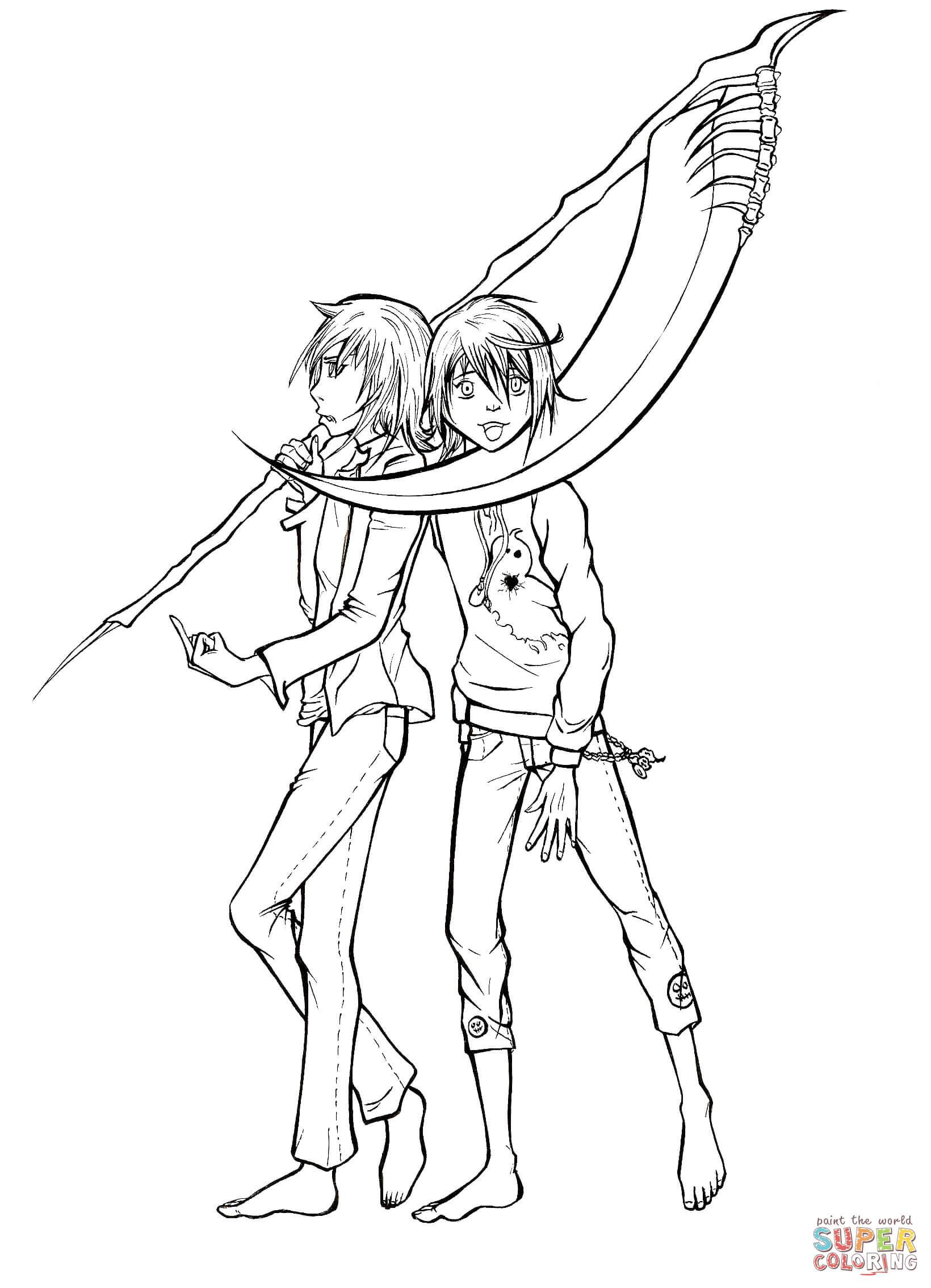 Wanijima Akito and Wanijima Agito from Manga Air Gear