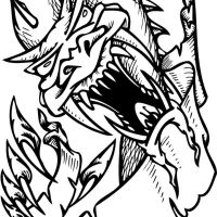 Scary Dragon Coloring Page Full Hd Dragon For Clown Computer Pics Printable