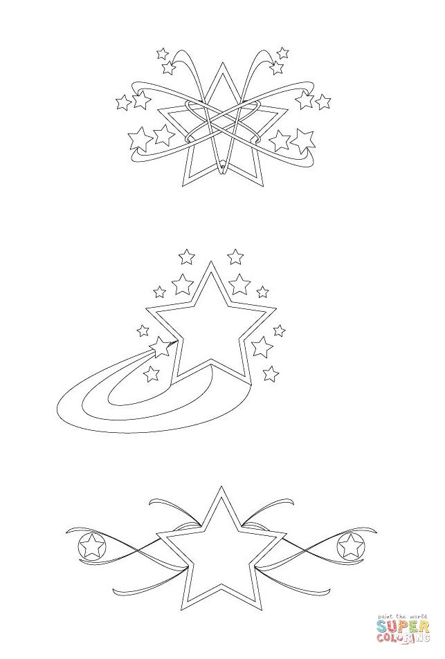 Disegno di Design di stelle da colorare  Disegni da
