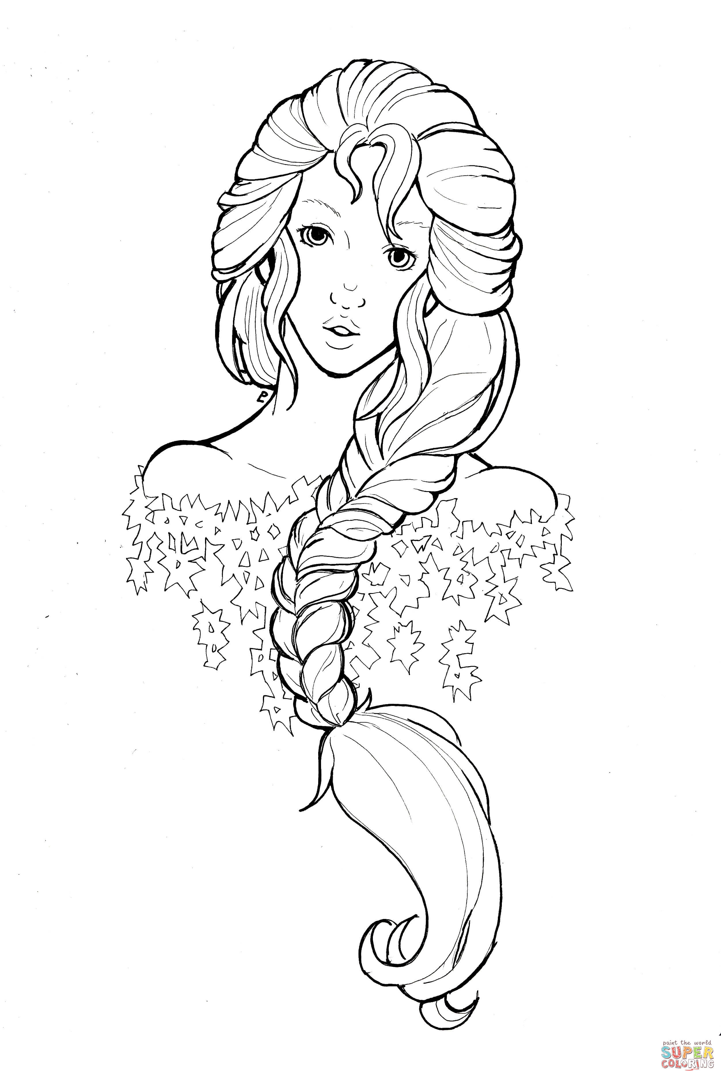 The Snow Queen By Namtia Coloring Page Free Printable Coloring Pages