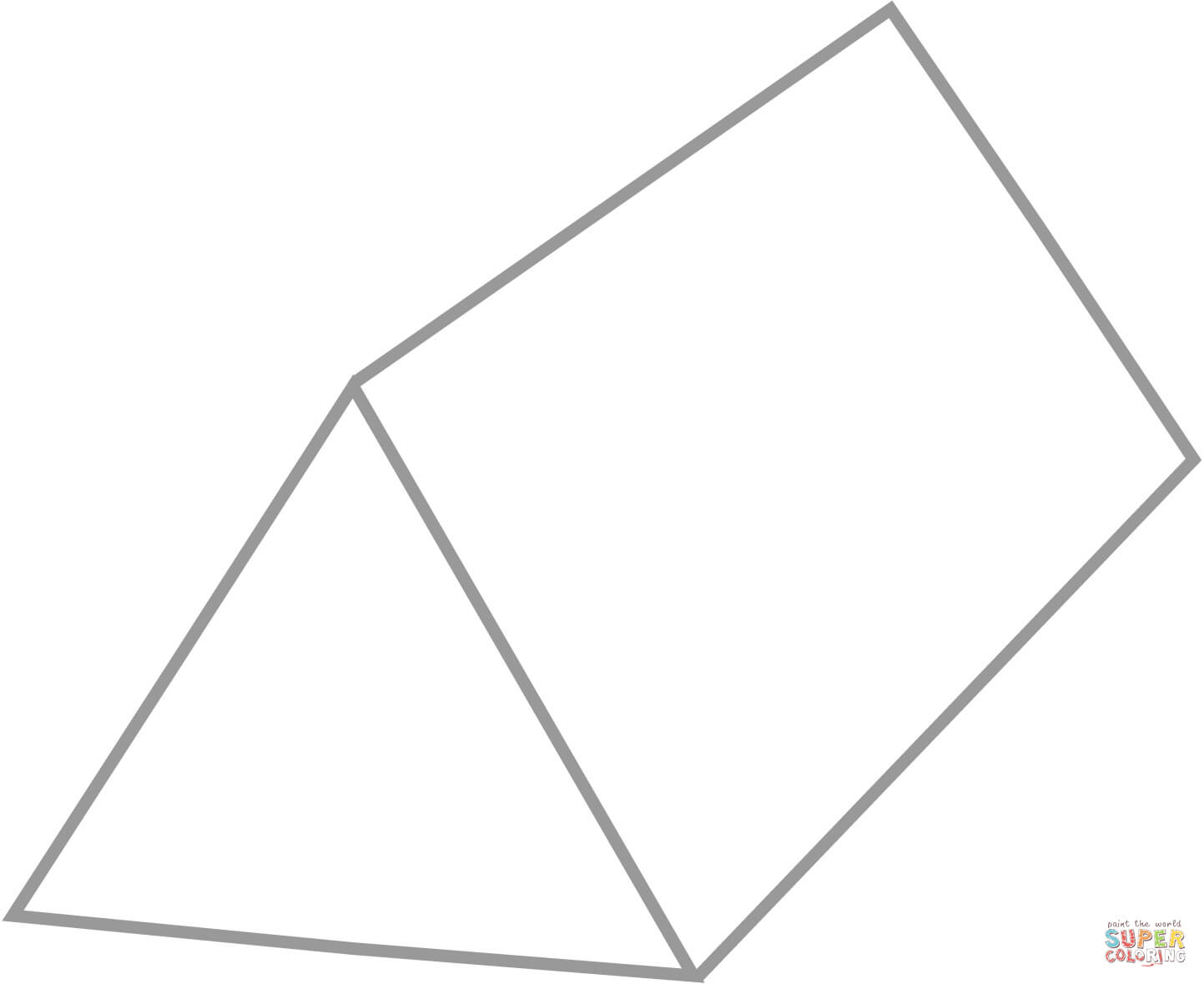 Triangular Prism Coloring Page