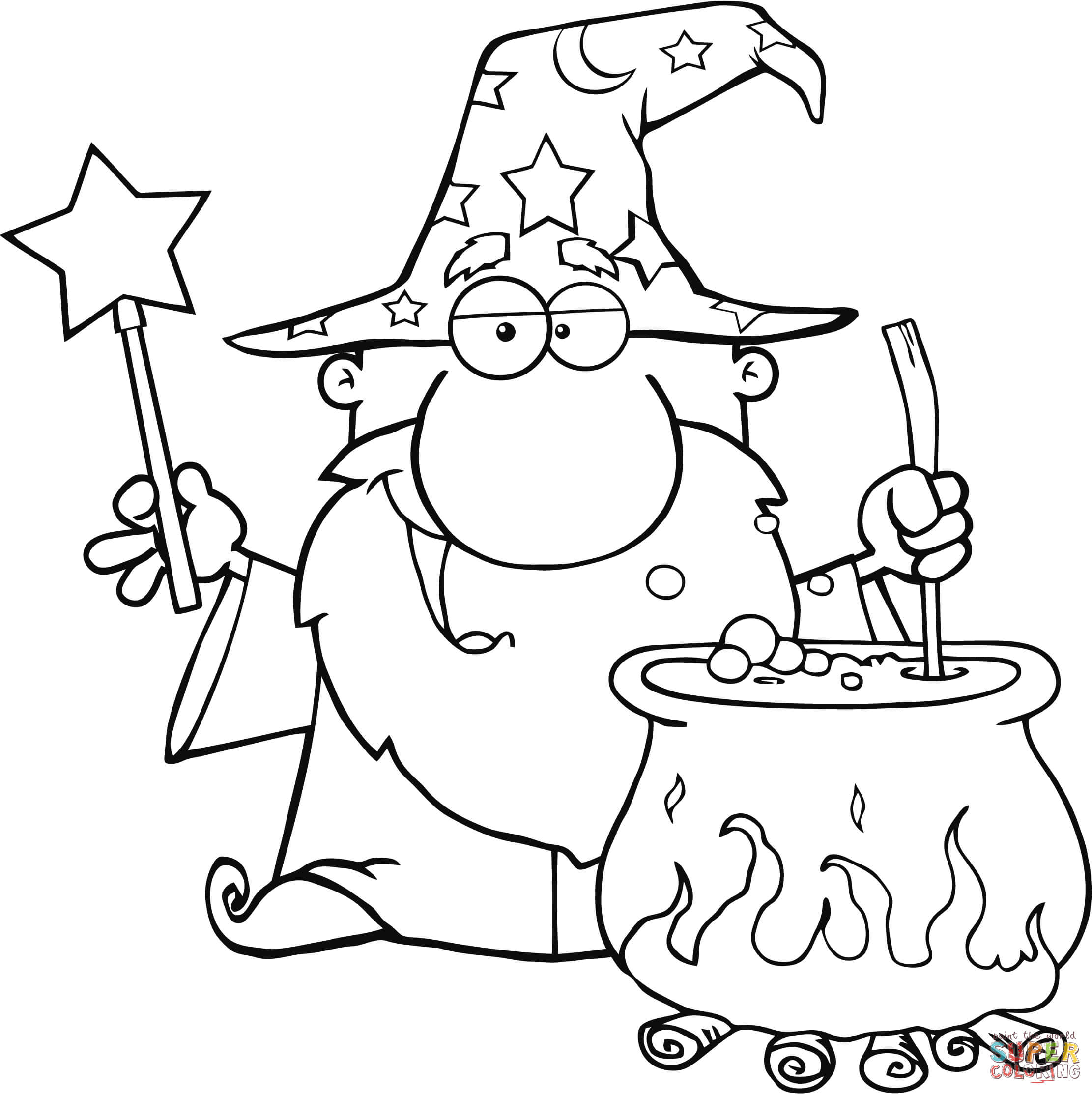 Wizard Coloring Pages Free Coloring Pages Download | Xsibe wizard ...