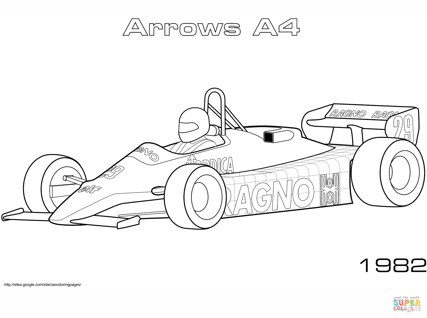 Arrows A4 Coloring Page