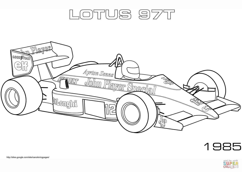 Lotus 97t Coloring Page