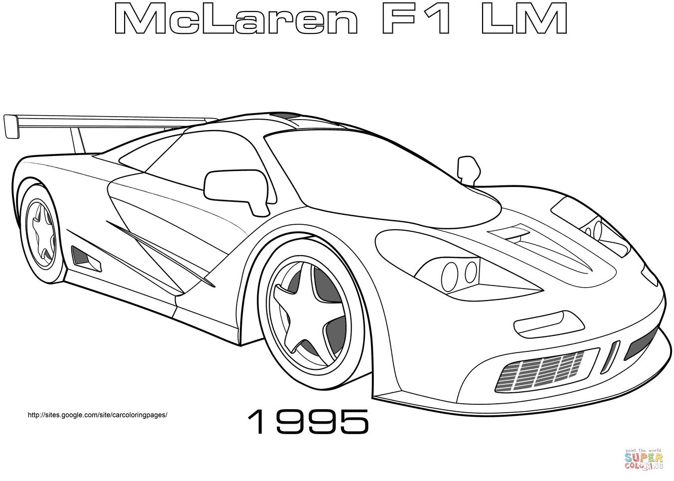 Ausmalbild Mclaren F1 Lm