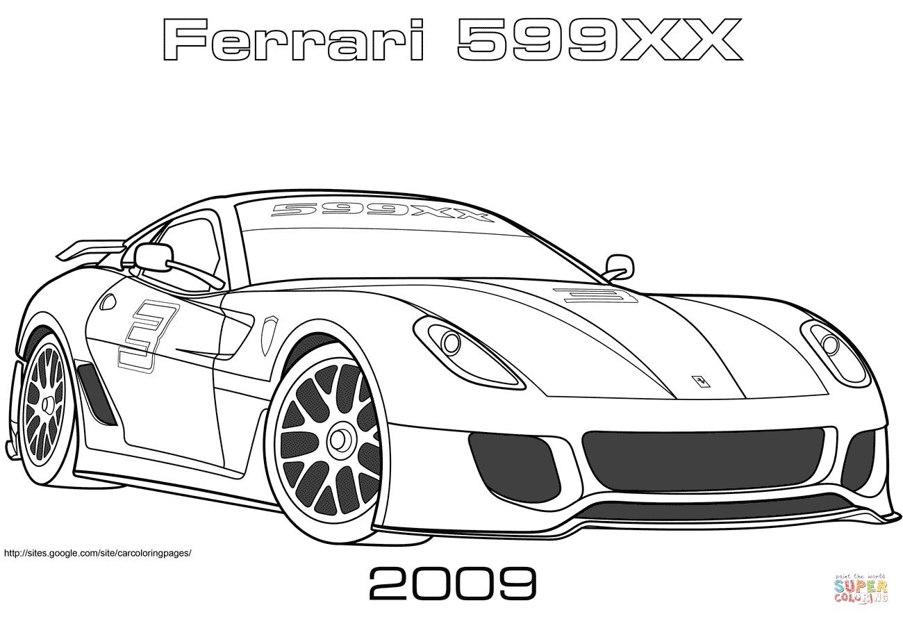Ferrari 599xx Coloring Page