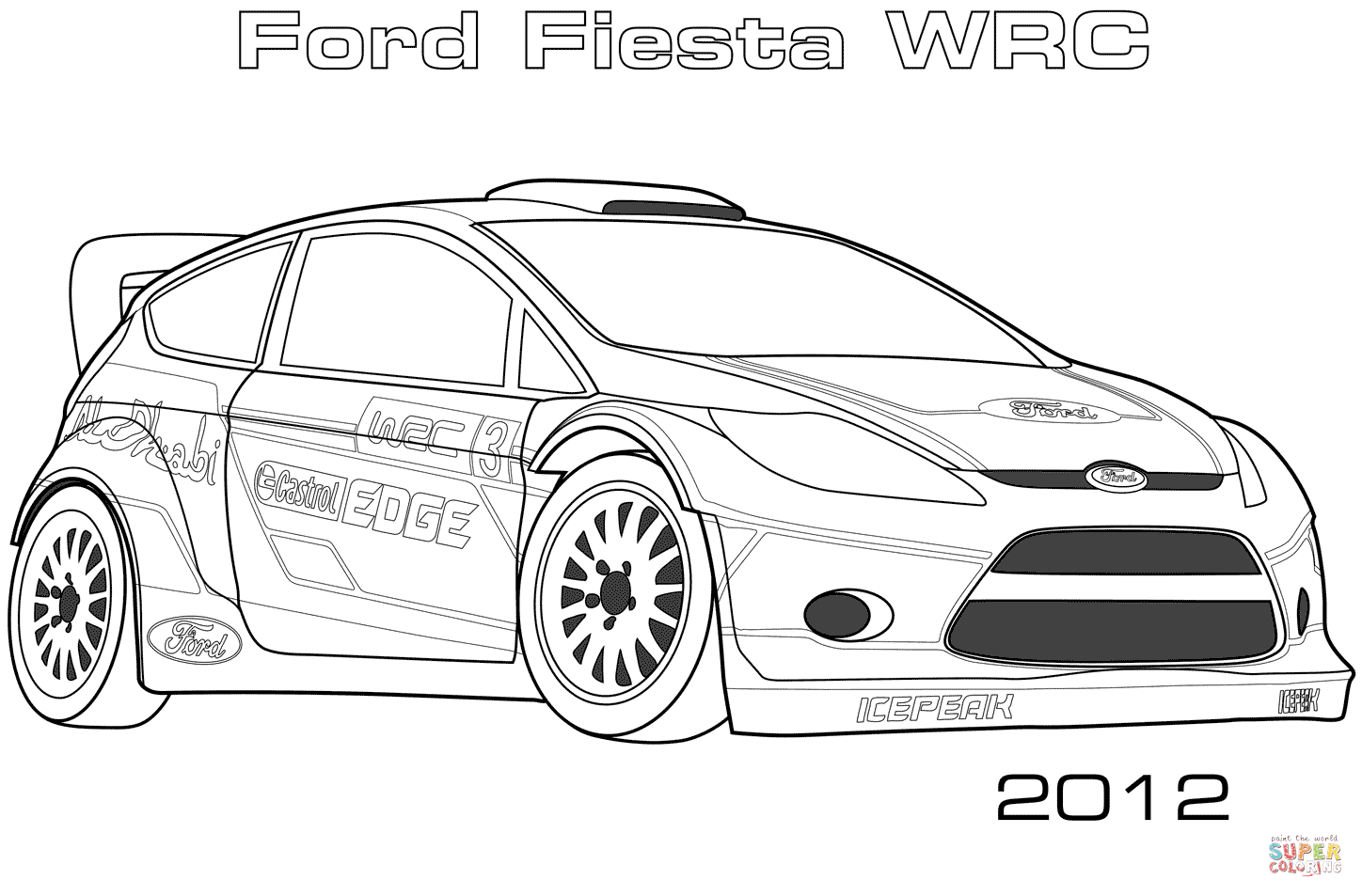 Ford Fiesta Wrc Coloring Page