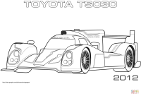 2012 Toyota TS030 coloring page | Free Printable Coloring ...