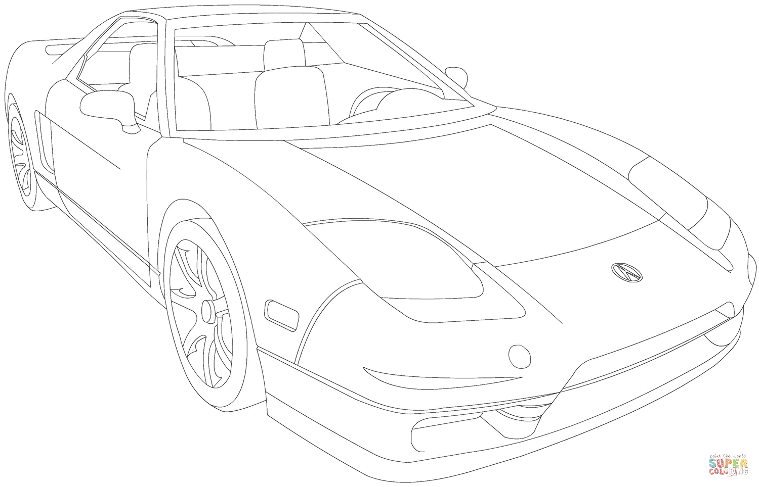 Acura Nsx Coloring Page