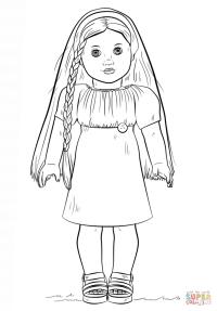 American Girl Doll Julie coloring page | Free Printable ...