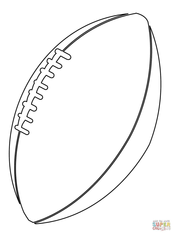 Desenho De Bola De Futebol Americano Para Colorir