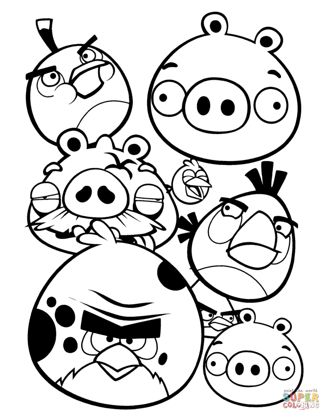 Click The Angry Birds Coloring Pages